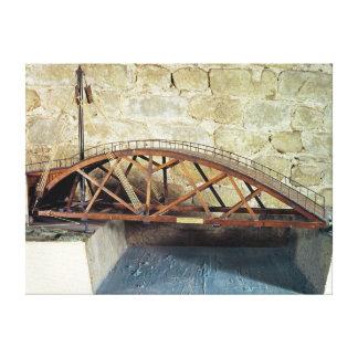 Model of a swing bridge canvas print