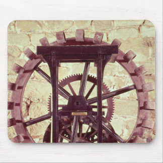 Model of a water wheel mouse pad