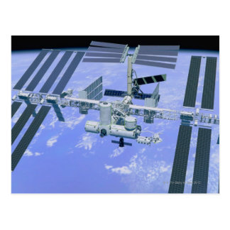 Model of an International Space Station Postcard
