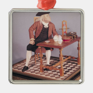 Model of Benjamin Franklin  at his table Christmas Ornament