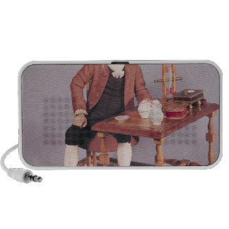 Model of Benjamin Franklin  at his table Speaker System