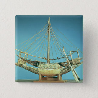 Model of one of the pharaoh's boats 15 cm square badge