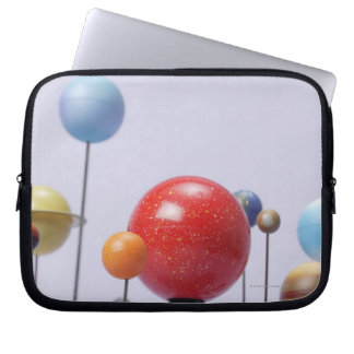 Model of planets laptop sleeve