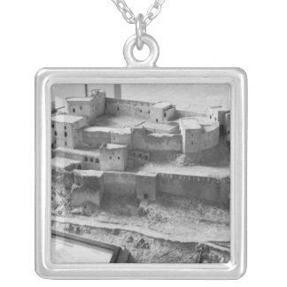 Model of The Krak des Chevaliers, model Silver Plated Necklace