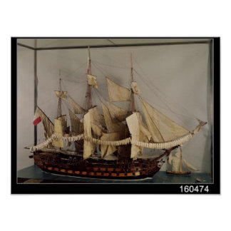 Model of the ship L Achille Posters