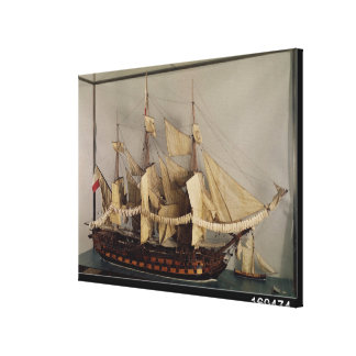 Model of the ship 'L'Achille' Canvas Print