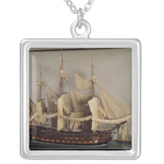 Model of the ship 'L'Achille' Silver Plated Necklace