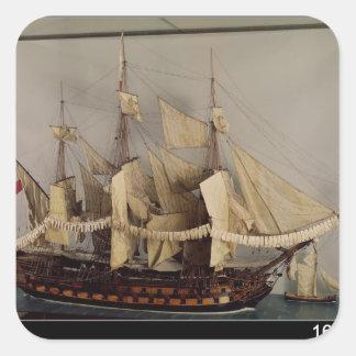 Model of the ship 'L'Achille' Square Sticker