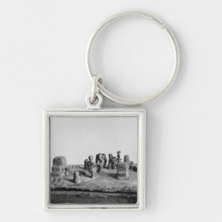 Model of the 'Sit Shamsi' ceremony Silver-Colored Square Key Ring