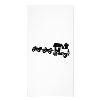 Model railroad custom photo card