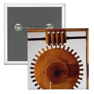 Model reconstruction of da Vinci's design 15 Cm Square Badge