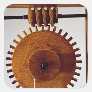 Model reconstruction of da Vinci's design Square Sticker