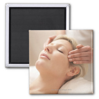 MODEL RELEASED. Facial. Square Magnet