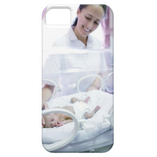 MODEL RELEASED. Nurse and premature baby. iPhone 5 Covers