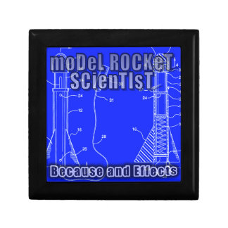 "Model Rocket Scientist ""Because and effects"" album Small Square Gift Box"