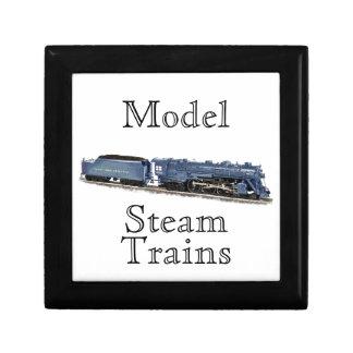 Model Steam Locomotive Trinket Boxes