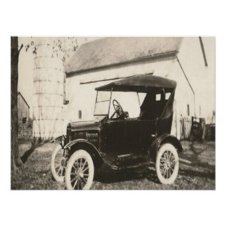 Model T Photo Poster