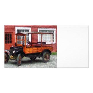 Model T Station Wagon Custom Photo Card