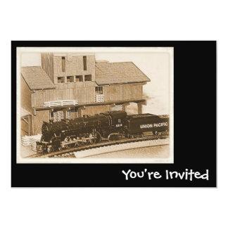 """Model Train Invitations 5"""" X 7"""" Invitation Card"""