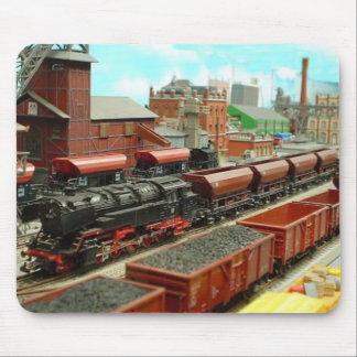 Model Train Station Mousepad