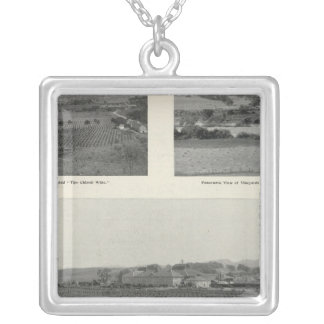 Model Vineyards, California Silver Plated Necklace