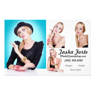 Model Zed Comp Cards Flyers