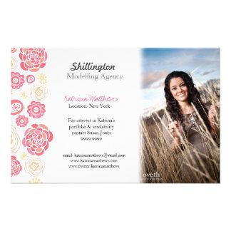Modelling Stylist Model Photo Promotional Card 14 Cm X 21.5 Cm Flyer