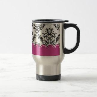 Modelo B W del vintage con rosa Taza De Café