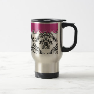 Modelo B&W of the vintage one with rose Travel Mug