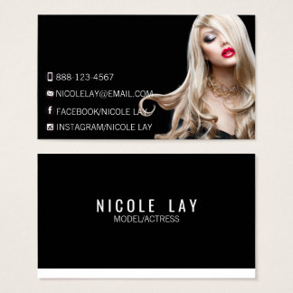 ★ Models and Actors Modern Headshot Business Card★ Business Card