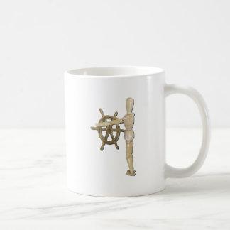 ModelWeatheredSteeringWheel061111 Basic White Mug