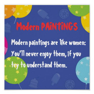Moden Paintings and WOMEN Poster