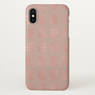 Moden Shiny Pink Blush Blossoms Gift iPhone X Case
