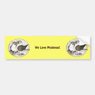 Modena Gazzi Pigeons Bumper Sticker