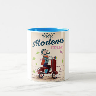Modena Italy Scooter travel poster Two-Tone Coffee Mug