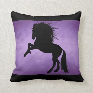 Moder Horse Pillow Black Design