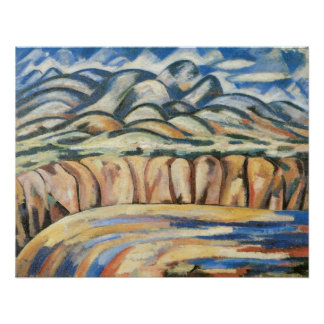 Moderism Landscape, New Mexico by Marsden Hartley Poster