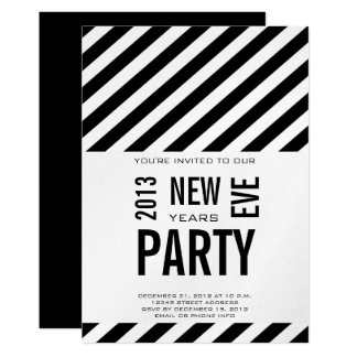 Modern 2013 New Years Party Invitation