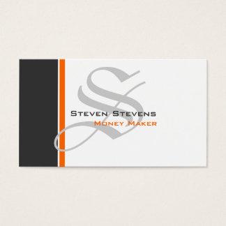 Modern 3 Color Monogram B Business Card