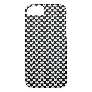 Modern 3D Cat Pattern iPhone 8/7 Case - B&W