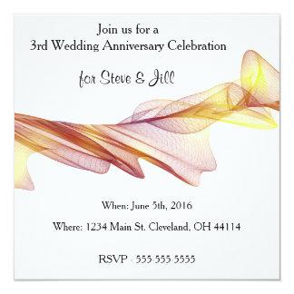 3rd Wedding Anniversary Cards & Invitations Zazzle.co.uk