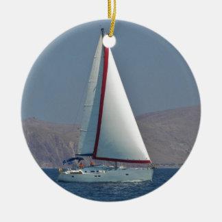 Modern 47 Foot Yacht Round Ceramic Decoration