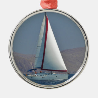 Modern 47 Foot Yacht Silver-Colored Round Decoration