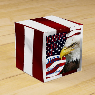 Modern 4th of July US USA Flag American Eagle Party Favour Boxes