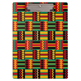 Modern Abstract African Art Pride Red Yellow Green Clipboards