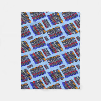 Modern Abstract Art Blue Background Fleece Blanket