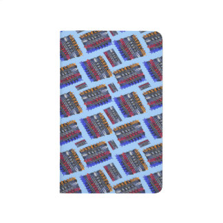 Modern Abstract Art Blue Background Journal