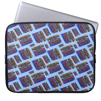 Modern Abstract Art Blue Background Laptop Sleeve