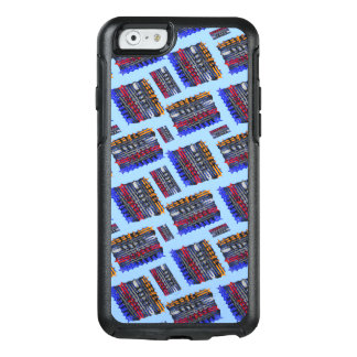 Modern Abstract Art Blue Background OtterBox iPhone 6/6s Case