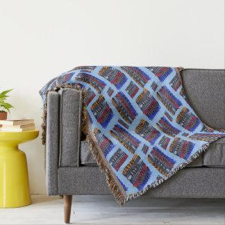 Modern Abstract Art Blue Background Throw Blanket